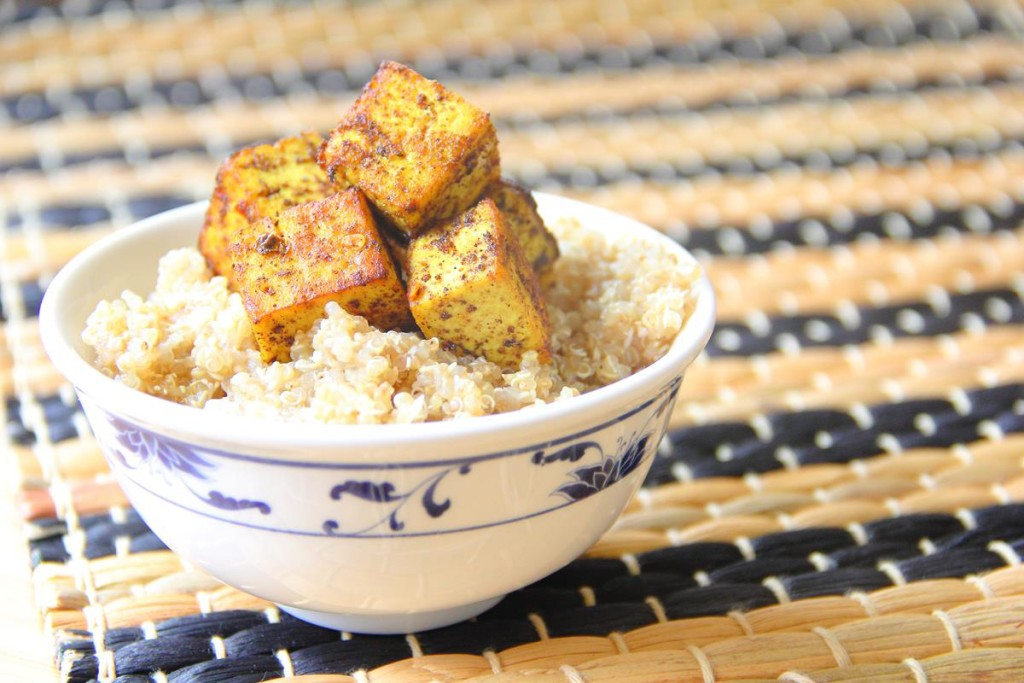 Caribbean Tofu with Coconut Quinoa