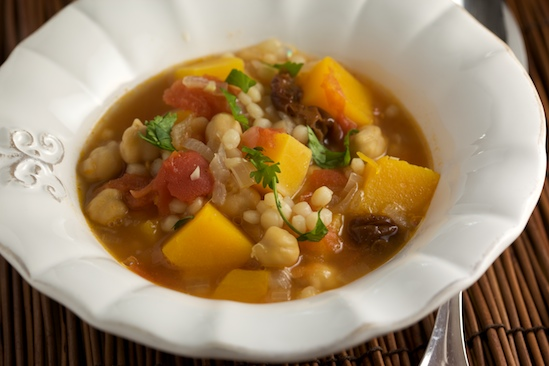 Butternut Squash and Chickpea Stew with Israeli Couscous