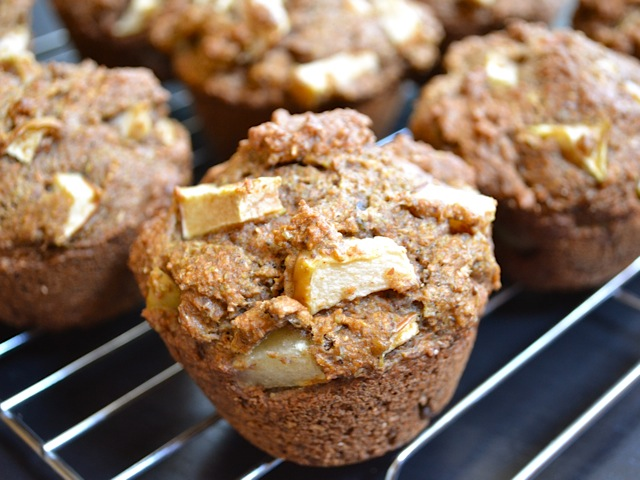 Apple Flax Muffins