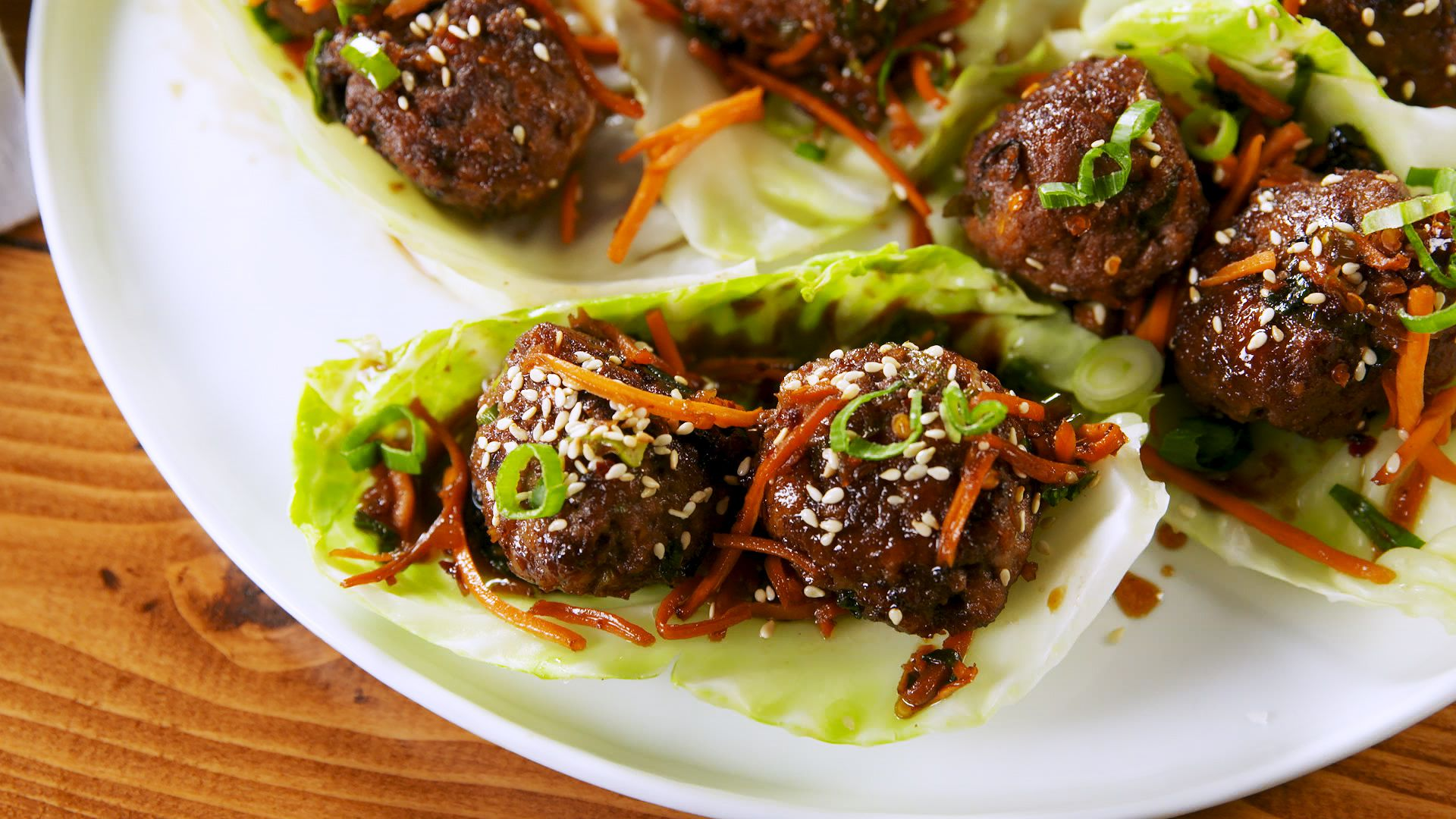 Mongolian Meatball Cabbage Cups