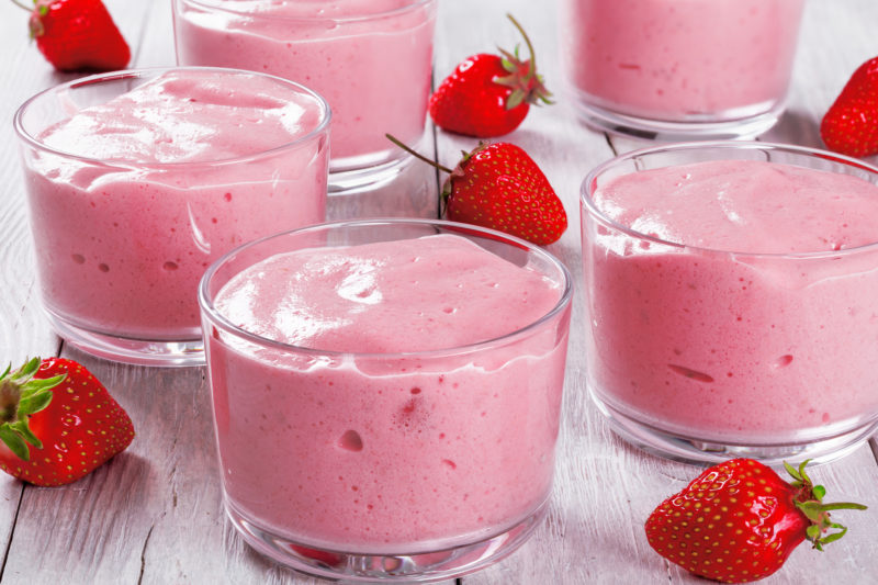 Sweet Strawberry Cheesecake Pudding