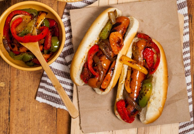 Chicken Sausage and Peppers Sandwich