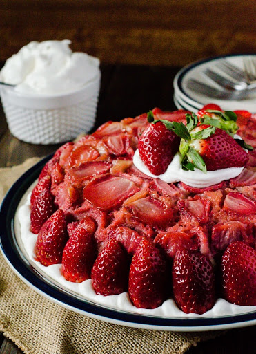 Strawberry Upside-Down Cheesecake