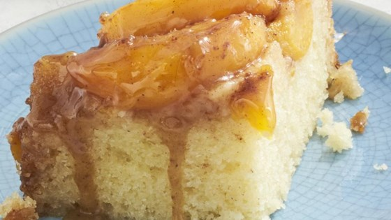 Slow Cooker Peach Upside Down Cake
