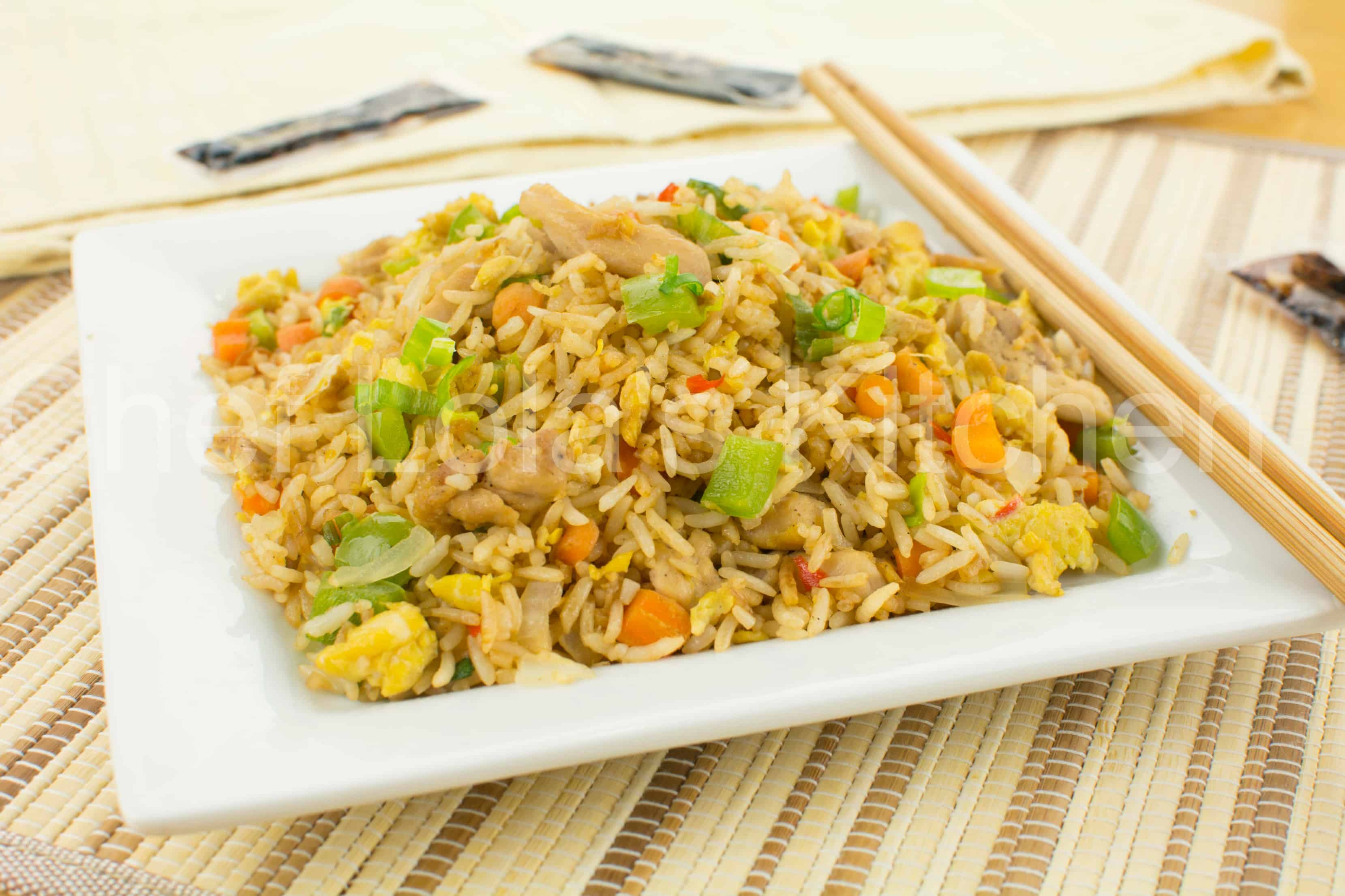 Chicken Fried Rice With Mixed Vegetables