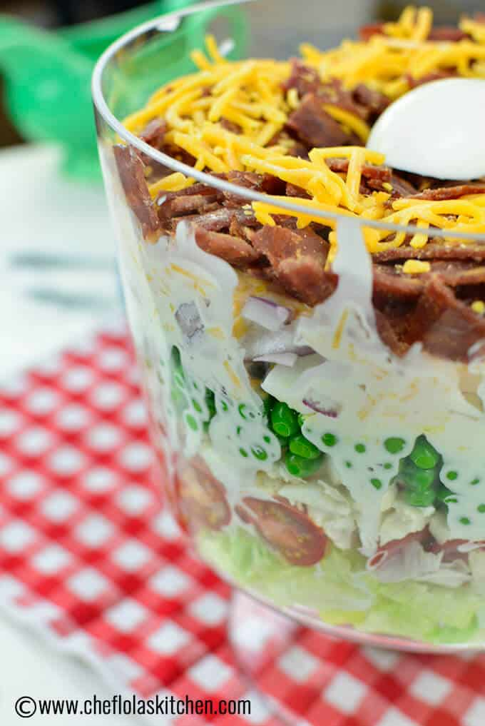 Delicious Make-Ahead 7 Layer Salad