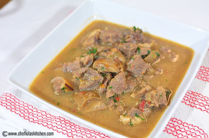 African Pepper Soup - Goat Meat
