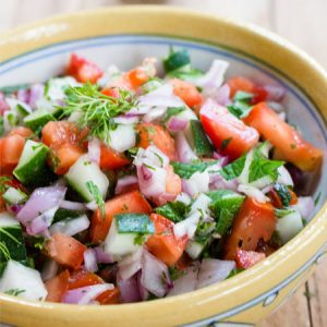 Easy Shirazi Salad - Refreshing Persian Salad Recipe