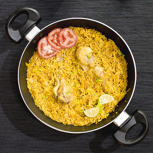 One Pan Spiced Chicken and Rice