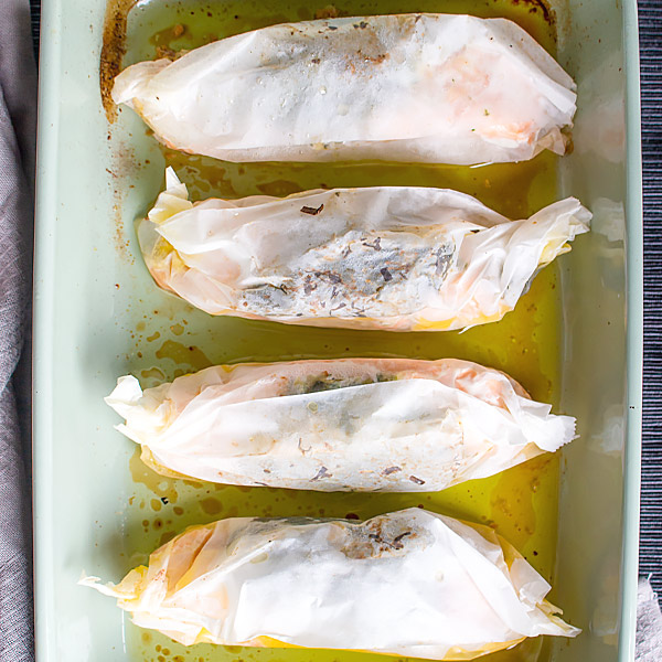 Salmon in Parchment Paper