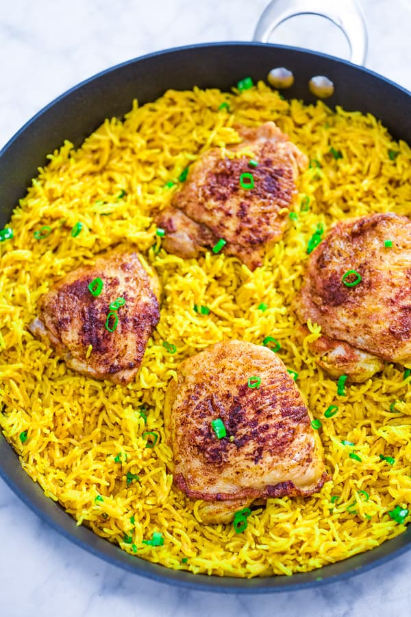 Chicken and Yellow Rice Skillet