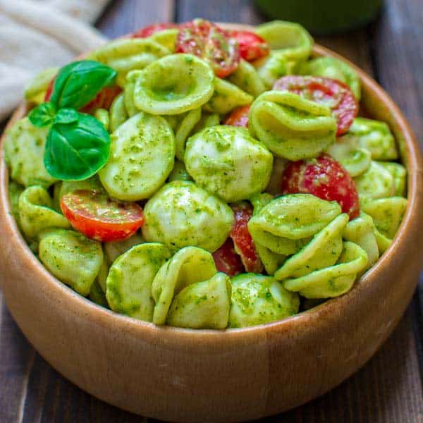 Pasta Salad with Kale Pesto