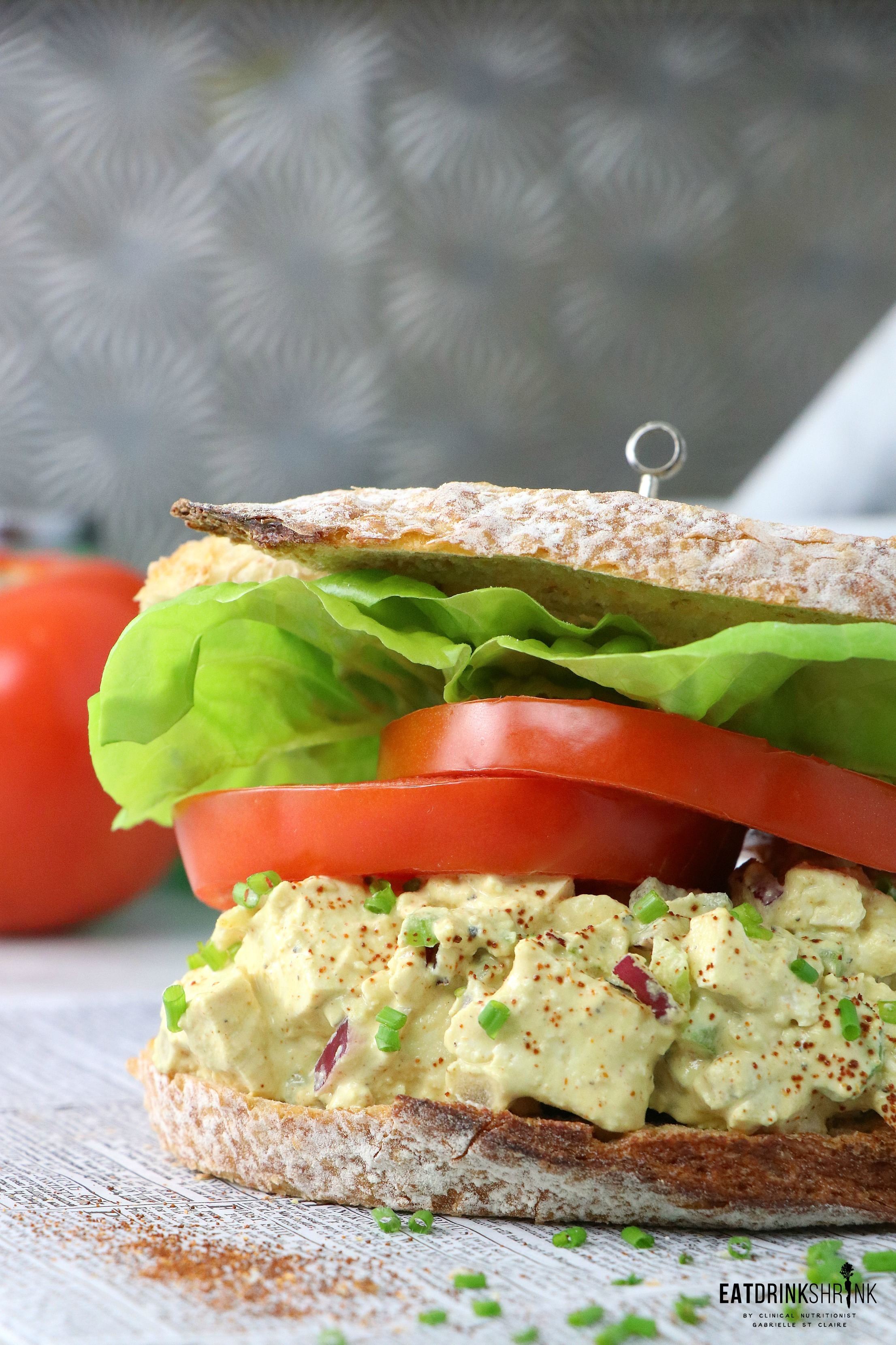 Vegan Eggless Mayo Free Egg Salad