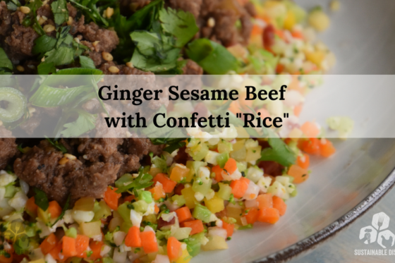 Ginger Sesame Beef with Confetti