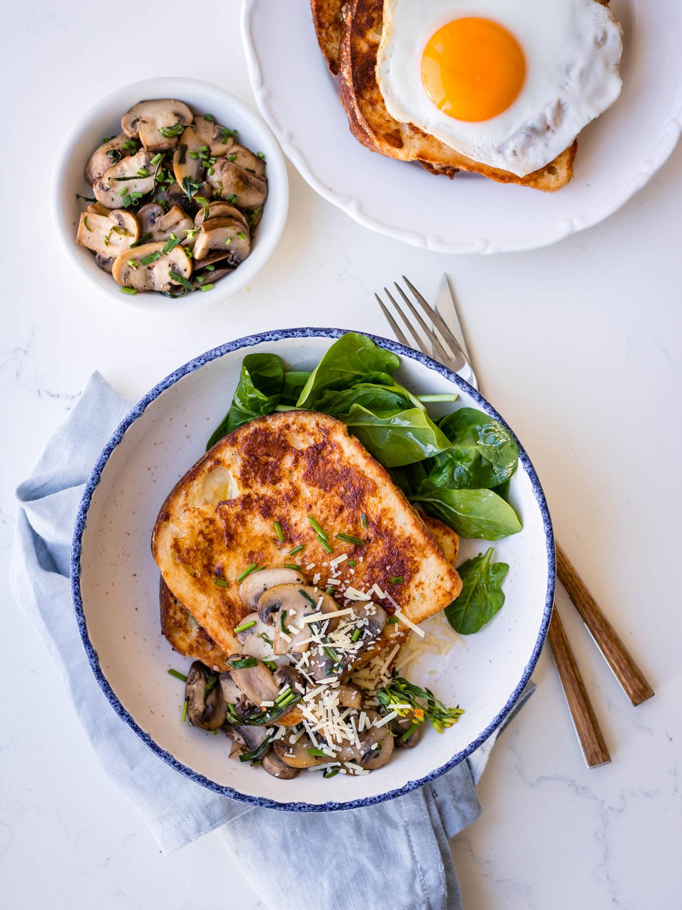 Savoury French Toast with Mushrooms