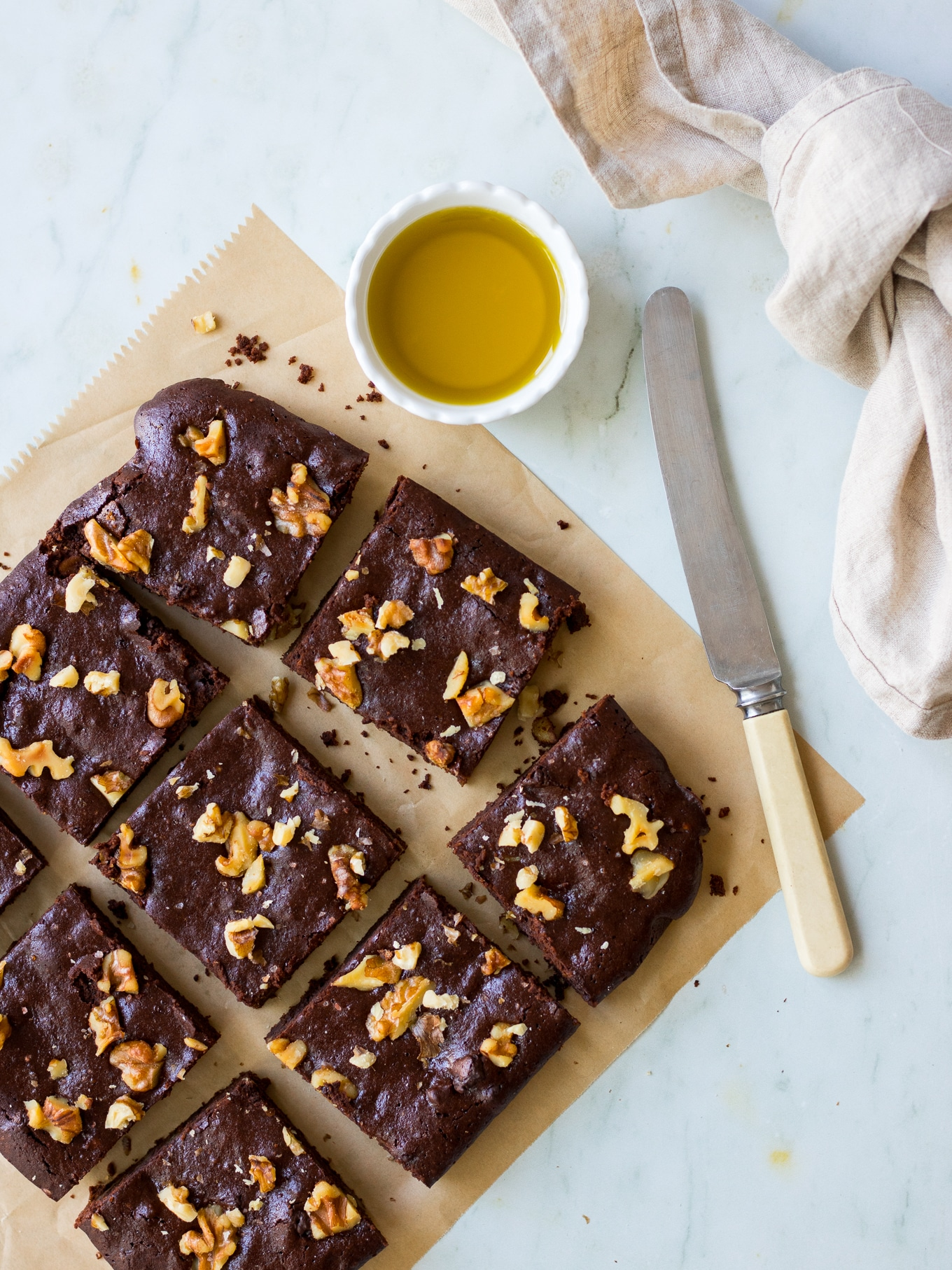 Olive Oil Chocolate Brownies