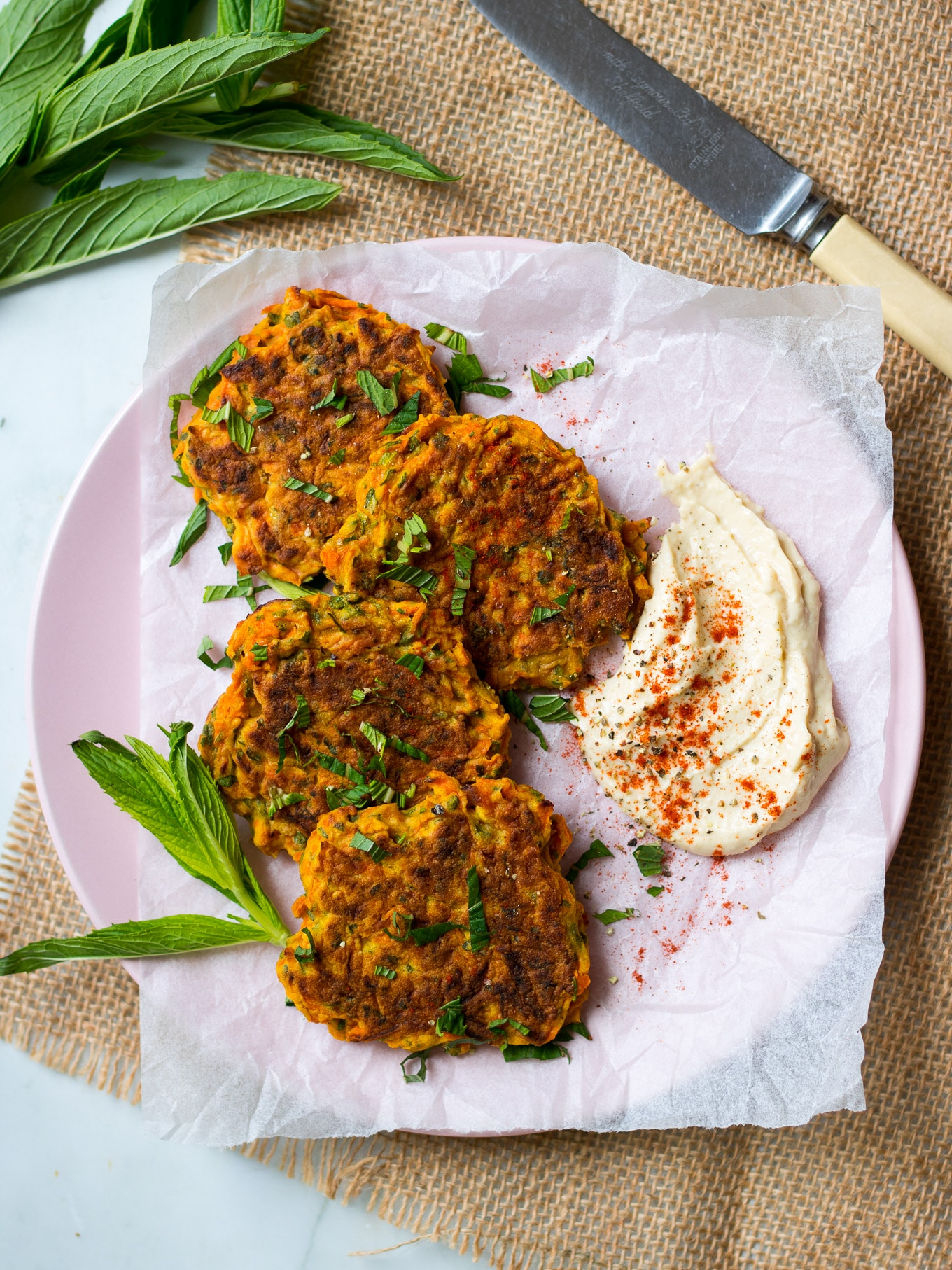 4 Ingredient Healthy Carrot Fritters