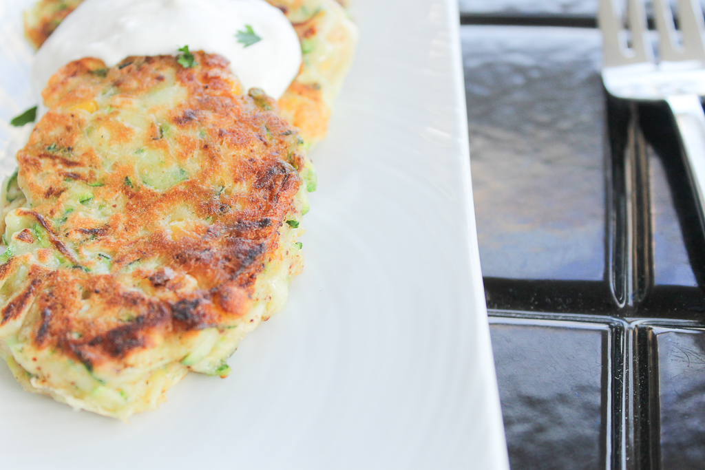 Veggie Fritters with Chive Coconut Cream