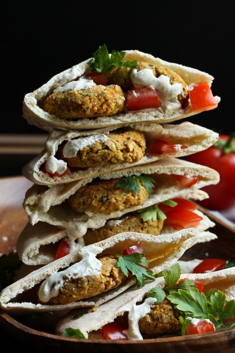 Easy Vegan Baked Falafel (Oil-free)