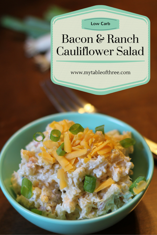 Bacon Ranch Cauliflower Salad