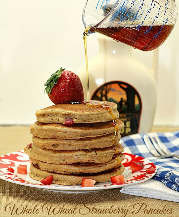 Whole Wheat Strawberry Pancakes