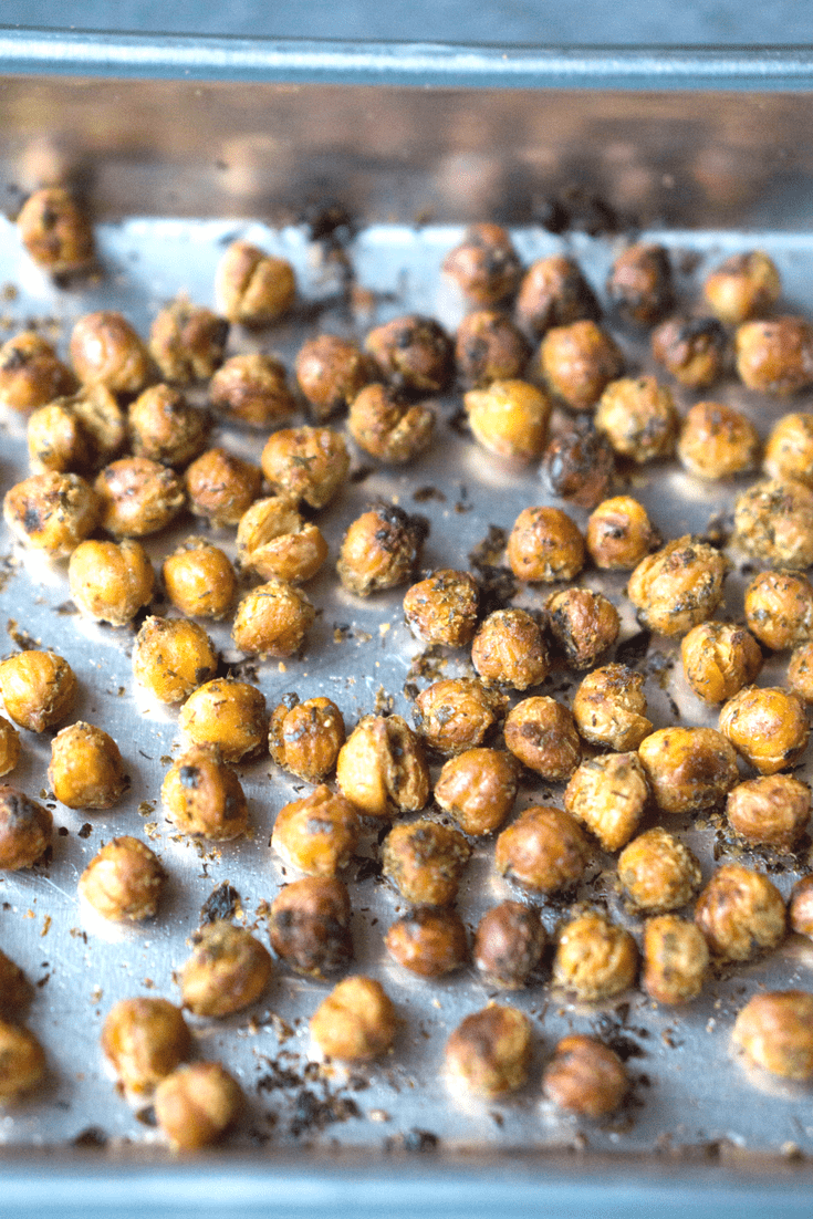 Herb Roasted Chickpeas (Garbanzos)