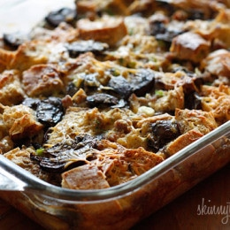 Breakfast Sausage and Mushroom Strata