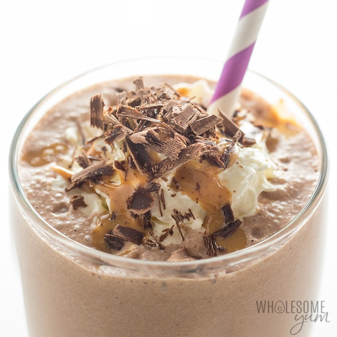 Healthy Chocolate Peanut Butter Low Carb Smoothie Recipe