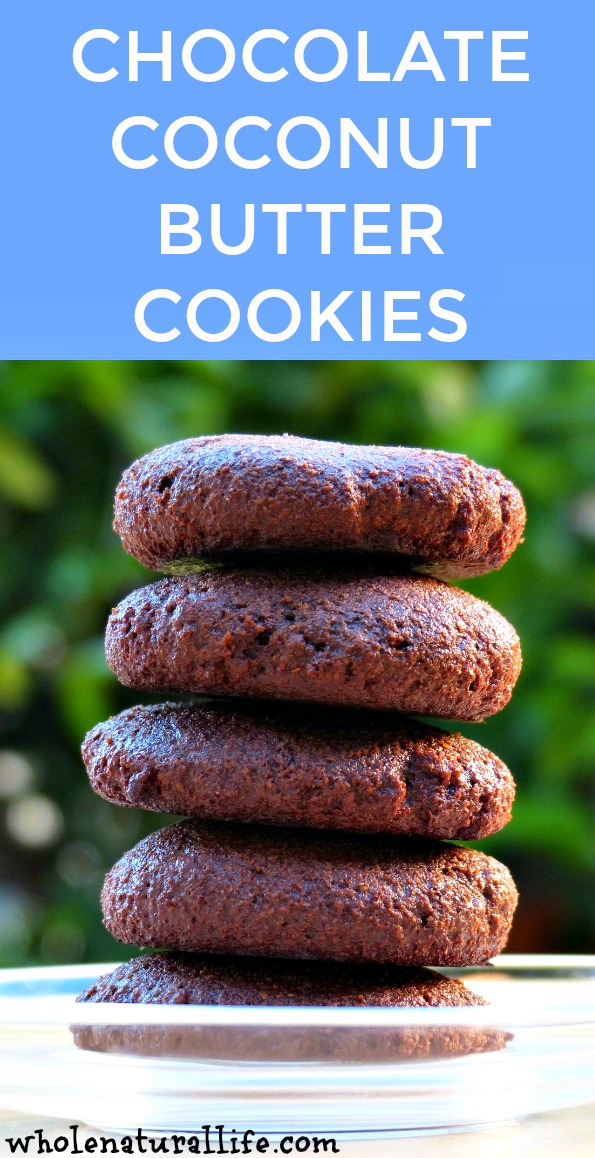 Flourless Chocolate Coconut Butter Cookies: Gluten-free, Grain-free, Egg-free