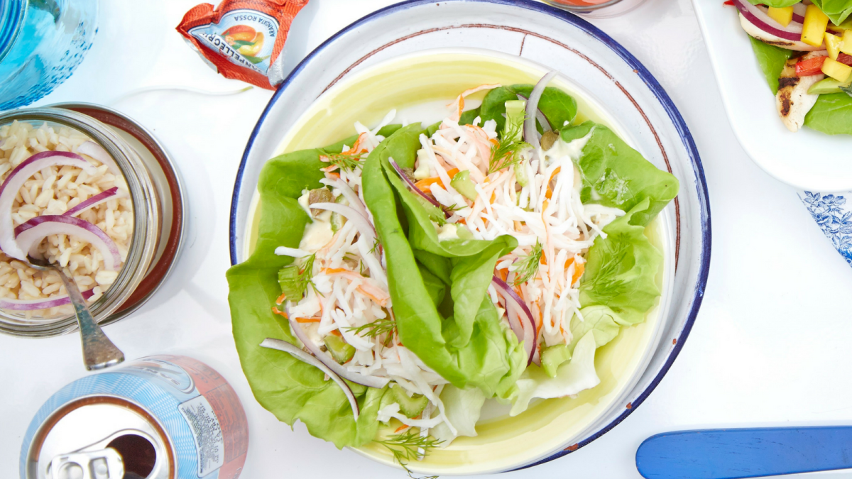 Mock Crab Salad Wraps