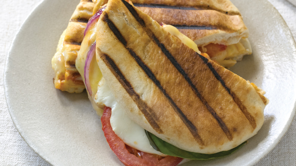 Three Cheese Pita Panini