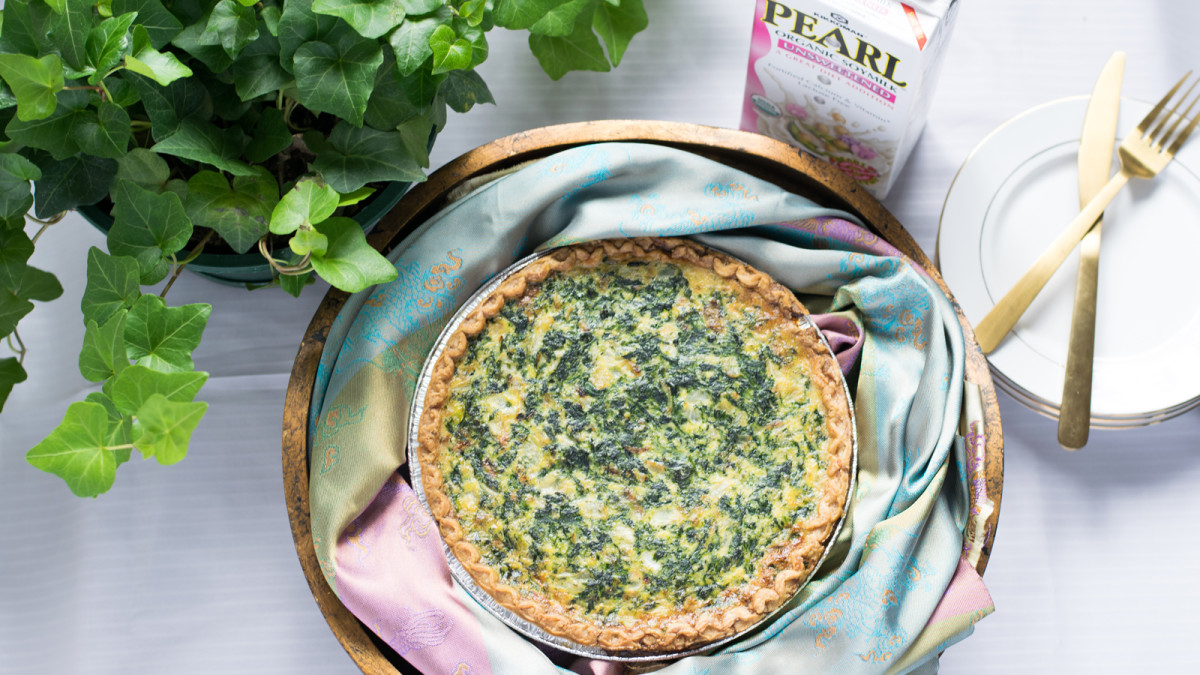 Spinach Caramelized Onion Quiche