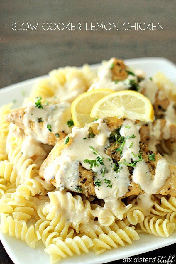 Slow Cooker Creamy Lemon Chicken