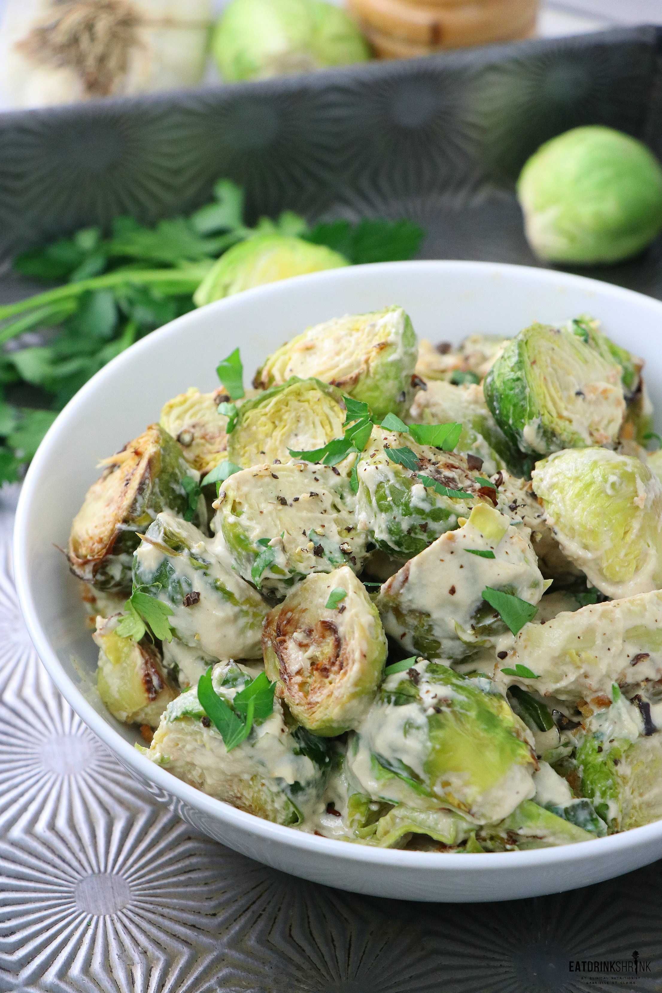 Vegan Roasted Dijon Brussels