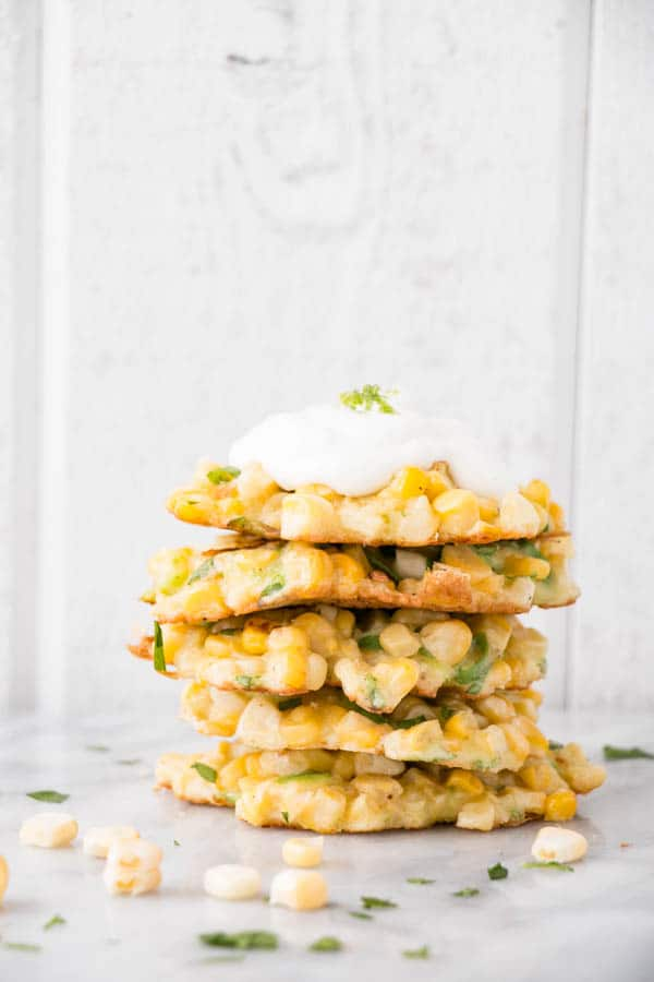 Jalapeno Lime and Corn Fritters