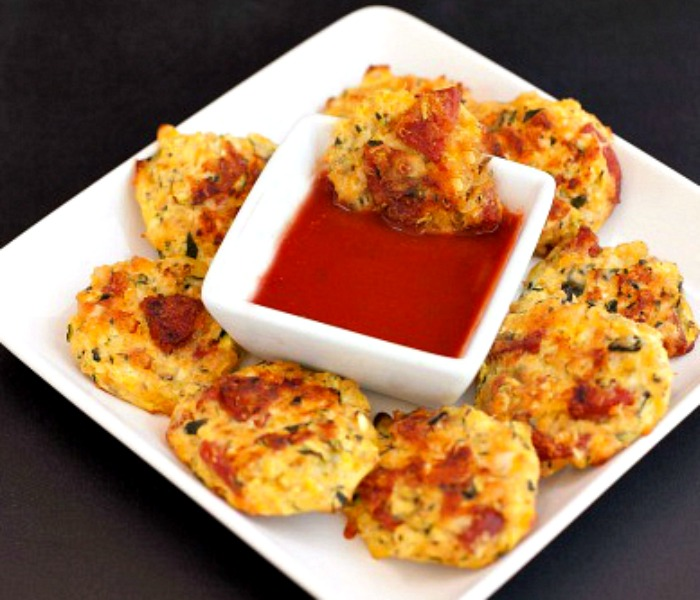 Easy Pizza Zucchini Tots Low Carb