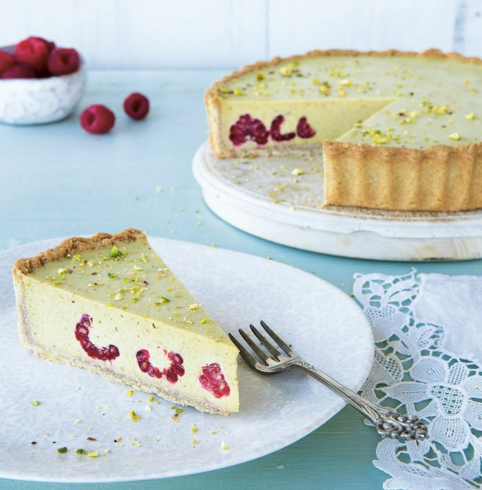 Bake It Clean: Pistachio And Raspberry Tart
