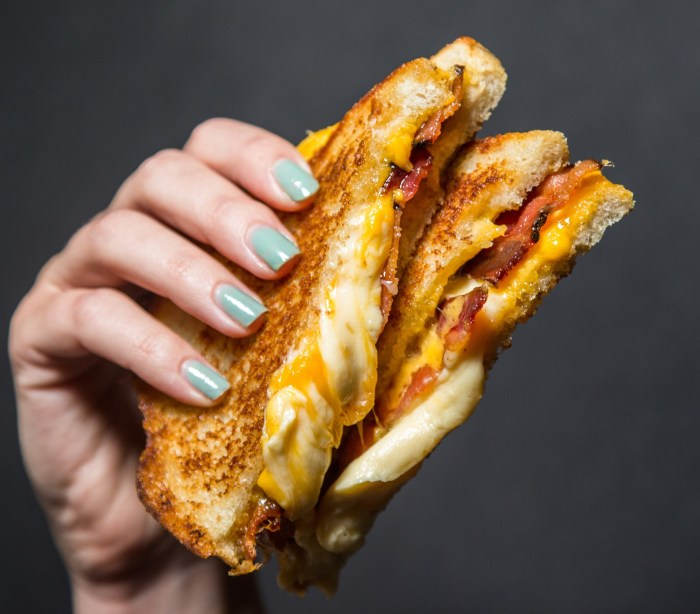 Make Melt's Maple Bacon Grilled Cheese