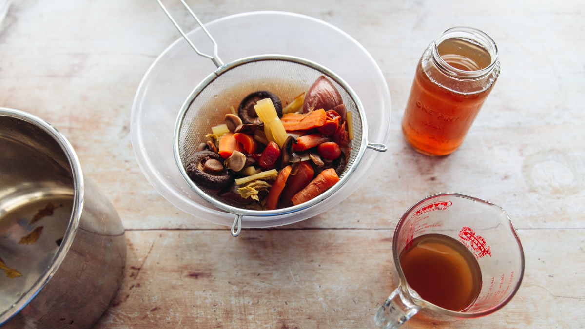 Basic Vegetable Broth (Slow Cooker)