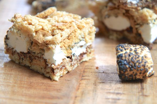 brown butter s'mores rice krispie treats