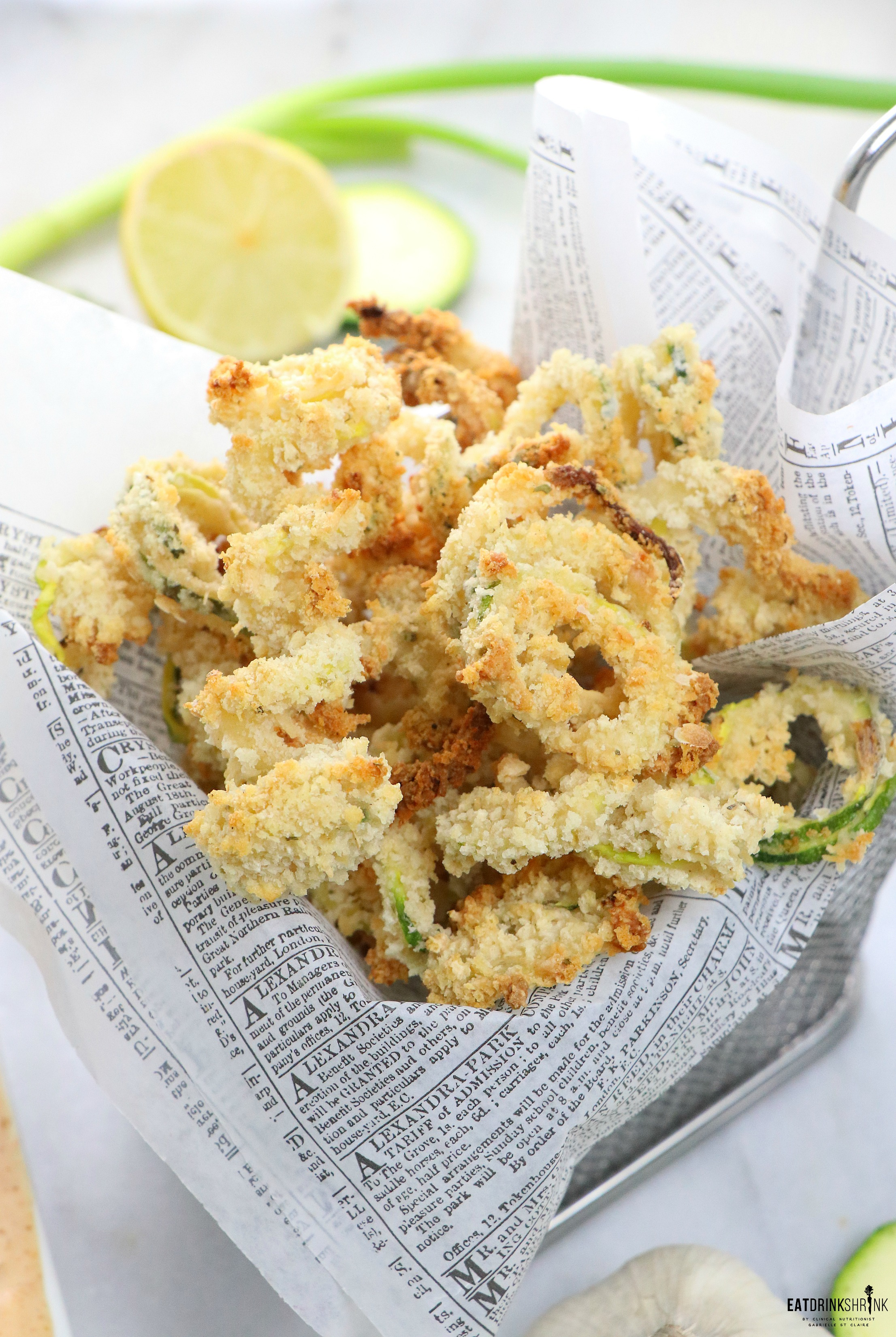 Vegan Baked Zucchini Fries with Remoulade Sauce