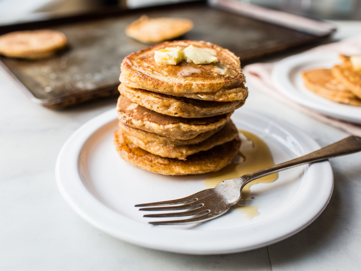 Light and Fluffy Pumpkin Pancakes