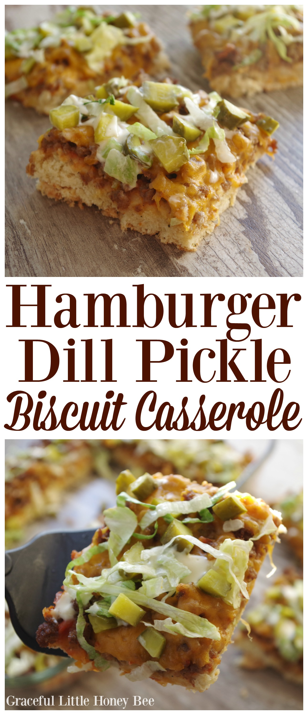 Hamburger Dill Pickle Biscuit Casserole