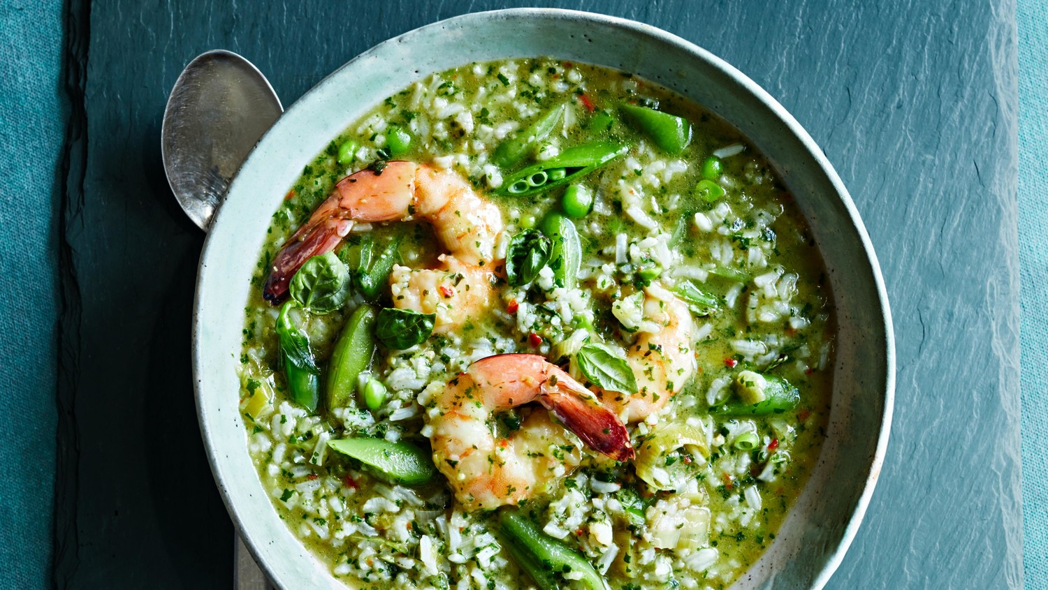 Shrimp with Spicy Green Rice