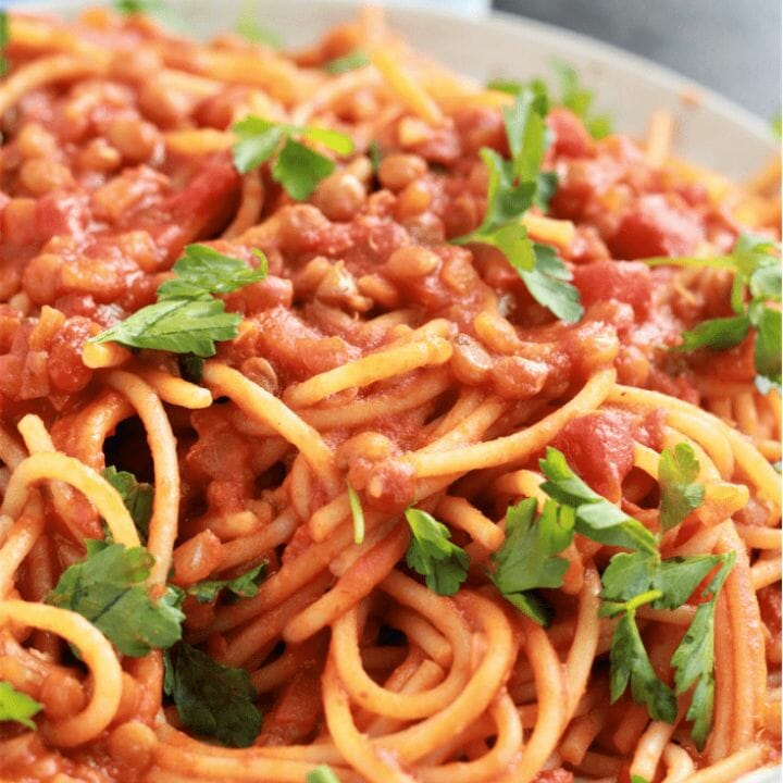 Instant Pot Spaghetti with Lentils