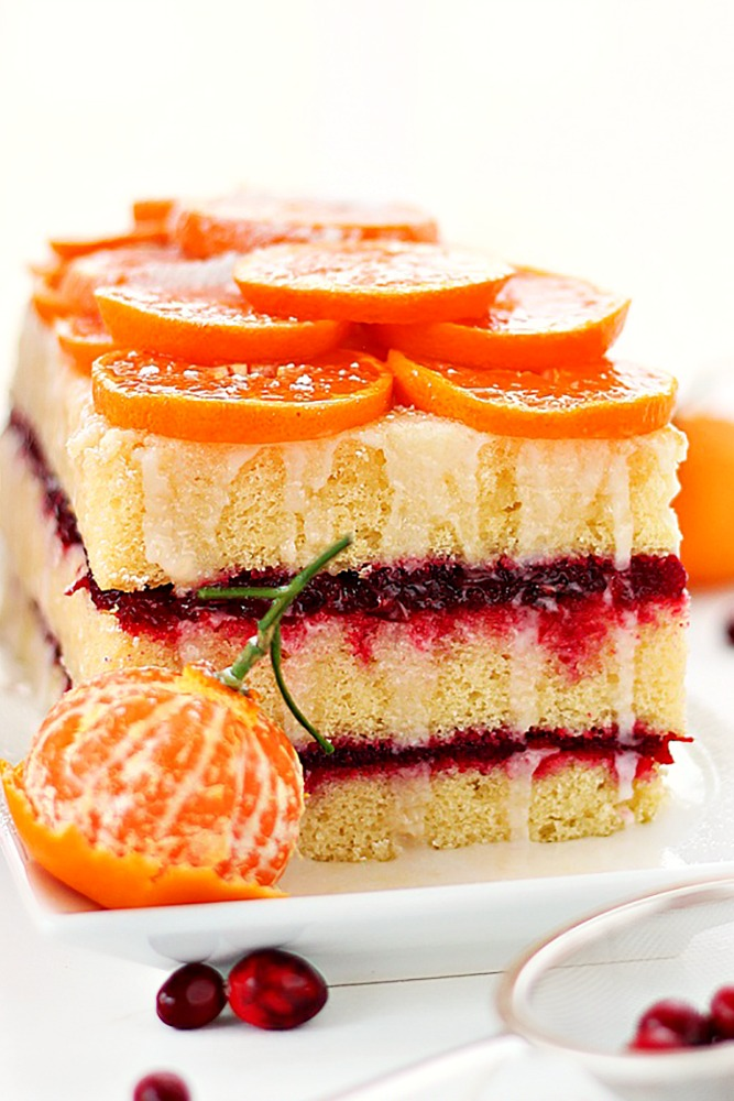 Citrus cranberry cake recipe