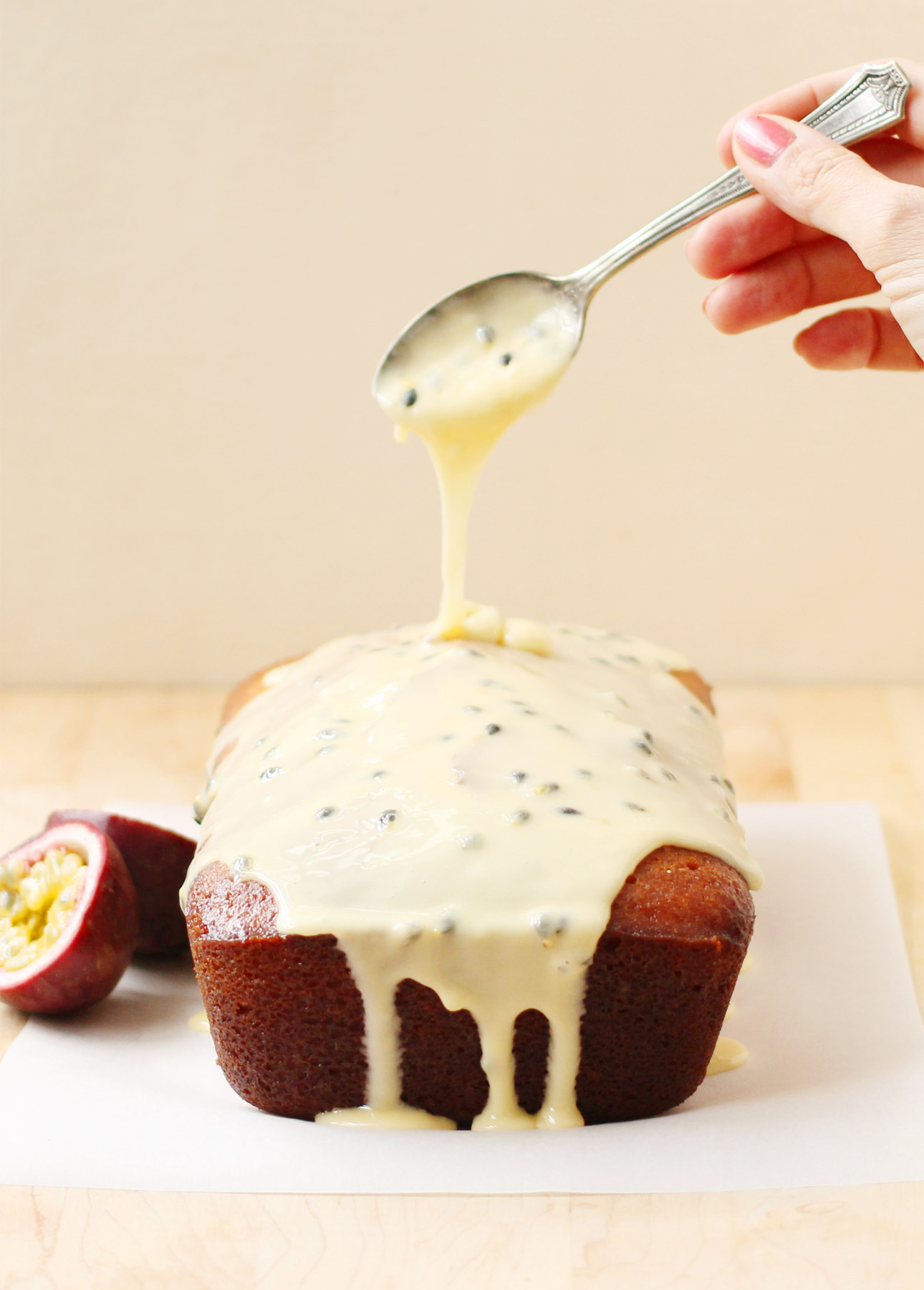 Passion Fruit and Lemon Drizzle Cake