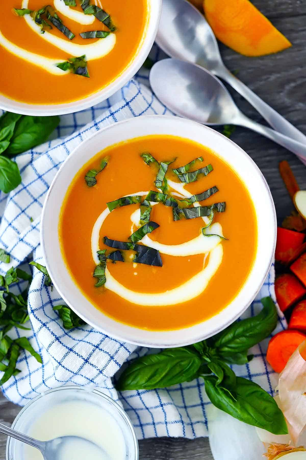 Carrot Ginger Soup (served cold or hot)