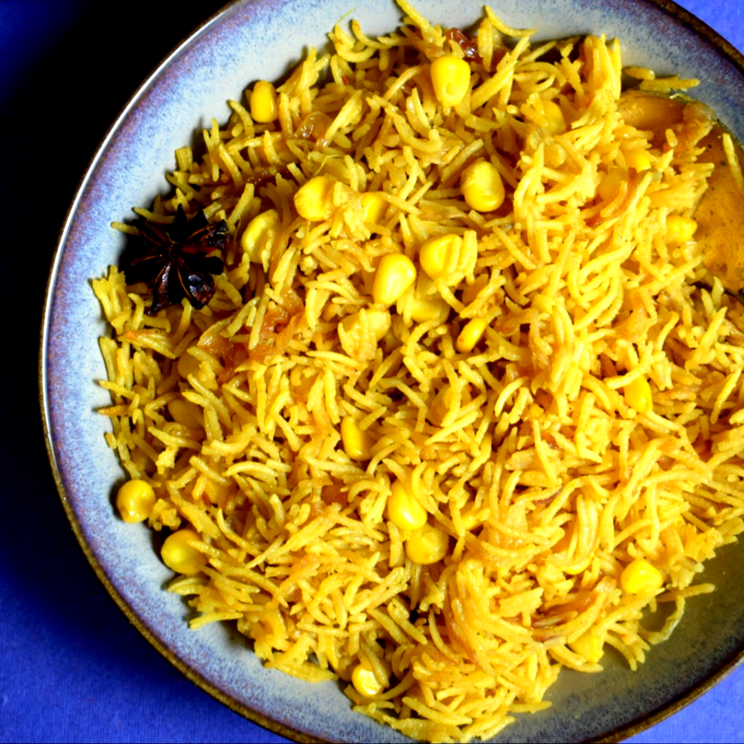 Corn Pulao Recipe | How to Make Corn Pulao Recipe