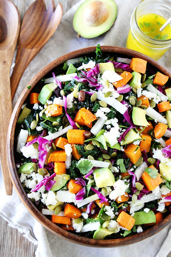 Sweet Potato and Black Bean Kale Salad